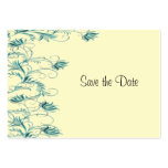 Garden Essence Teal And Yellow Save The Date Cards Business Card Template