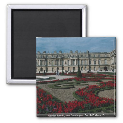 Garden facade, view from beyond South Parterre, Pa 2 Inch Square Magnet