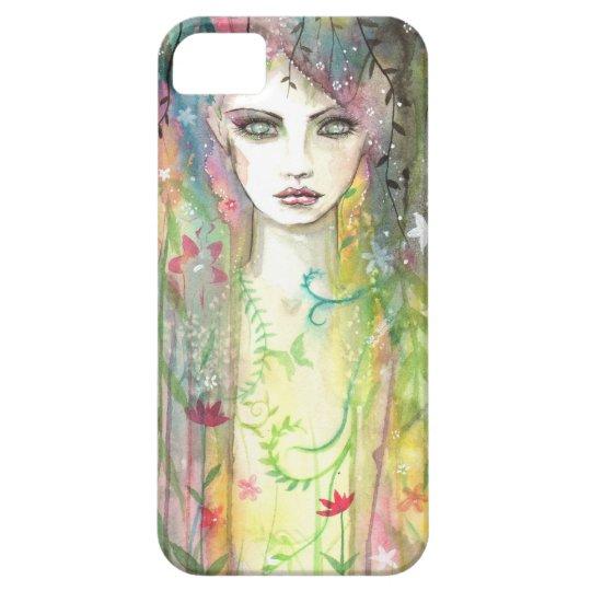 Garden Faerie Pop Art Modern Woman Face Fantasy iPhone SE/5/5s Case