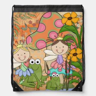Garden Fairies Drawstring Backpack Bag
