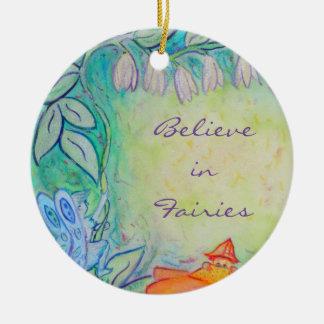 Garden Fairies Flower Art Custom Ornaments