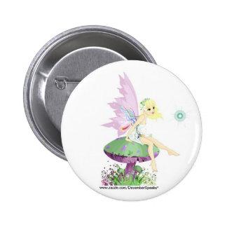 Garden fairy 2 inch round button