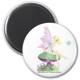 Garden fairy 2 inch round magnet