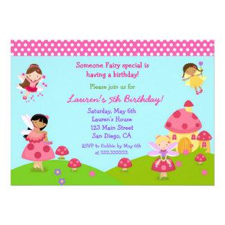 Garden Fairy Birthday Invitation
