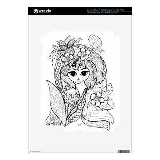 Garden fairy decal for iPad 3
