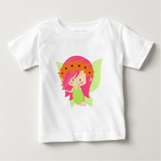Garden Fairy- Green and Pink Baby T-Shirt