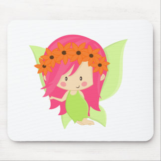 Garden Fairy- Green and Pink Mouse Pad