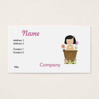 Garden Fairy in Flower Pot Business Card