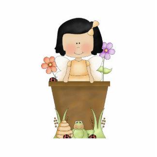 Garden Fairy in Flower Pot Photo Sculpture