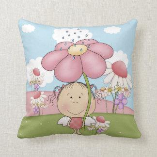 """Garden Fairy Polyester Throw Pillow 16"""" x 16"""""""