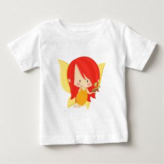 Garden Fairy- Red and Orange Baby T-Shirt