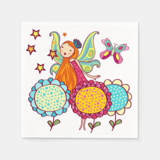 Garden Fairy With Flowers Disposable Napkins