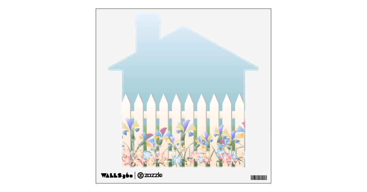 Flowers Home Shape Wall Decal
