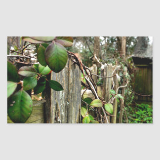 Garden Fence Rectangle Stickers