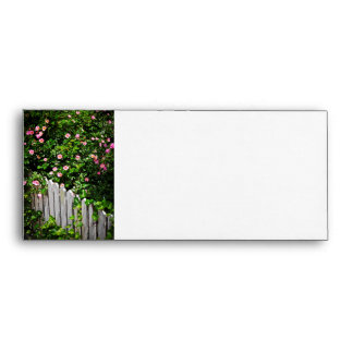 Garden fence with roses envelope