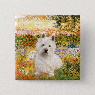 Garden Fiorito - Westie 1 Pinback Button