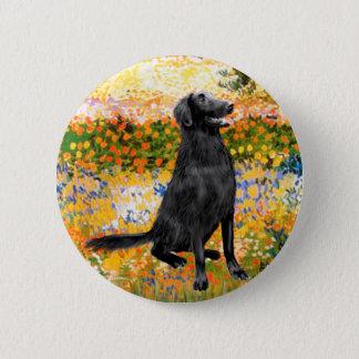 Garden - Flat Coated Retriever Button