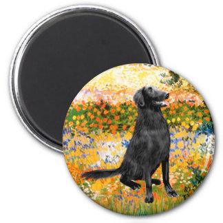 Garden - Flat Coated Retriever Fridge Magnets