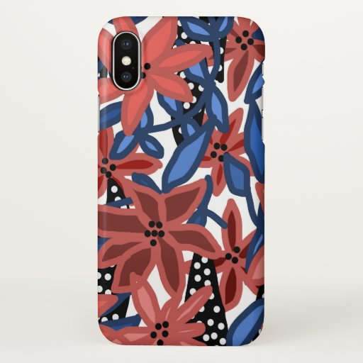 Garden Floral Tropical Design by © Cathy Thompson iPhone X Case