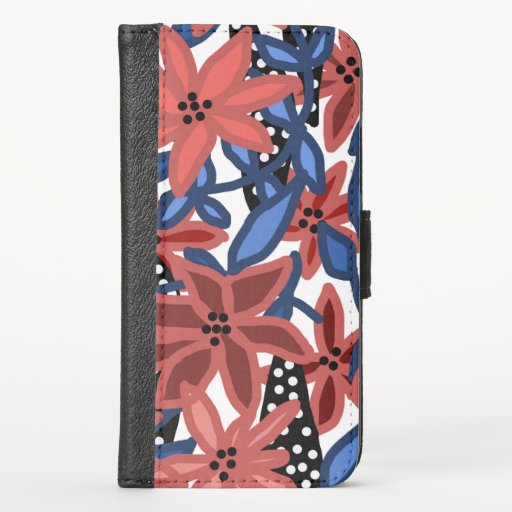 Garden Floral Tropical Design by © Cathy Thompson iPhone X Wallet Case