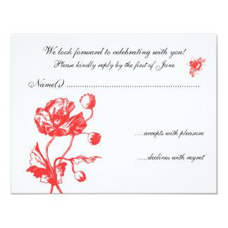 Garden Florals RSVP Personalized Invitation