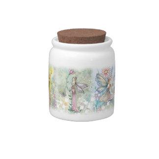 Garden Flower Fairies Candy Jar