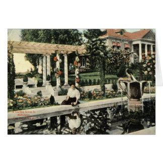Garden Flower Scene, Los Angeles 1914 Vintage Card