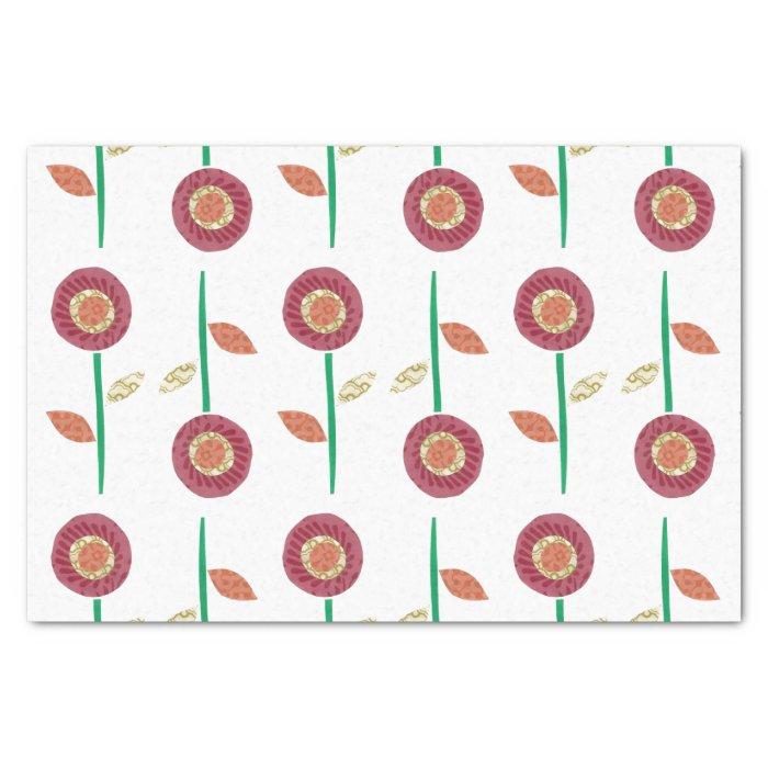 Garden Flower Tissue Paper Zazzle