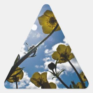 GARDEN FLOWER TRIANGLE STICKER