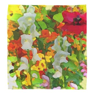 Garden Flowers Abstract