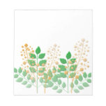 Garden Flowers and Leaves Scratch Pad
