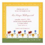 Garden Flowers Bridal Shower Invitation