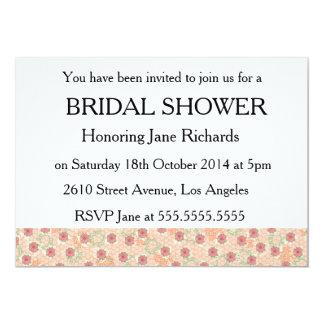 Garden Flowers Bridal Wedding Shower 5x7 Paper Invitation Card