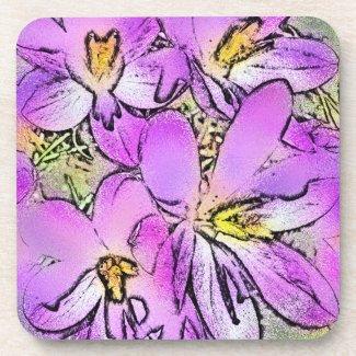 GARDEN FLOWERS corkcoaster