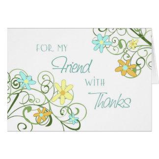 Garden Flowers Friend Thank You Bridesmaid Card