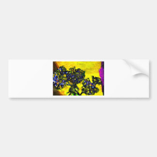 Garden flowers in the yellow sunlight bumper sticker