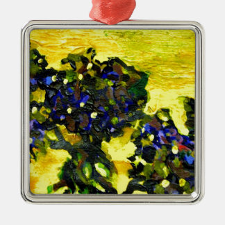 Garden flowers in the yellow sunlight christmas tree ornaments