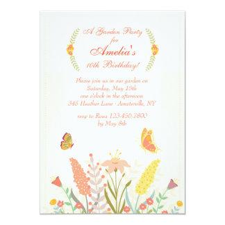 Garden Flowers Invitation