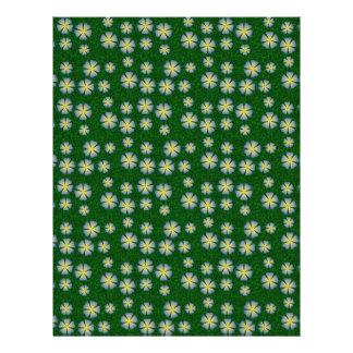 Garden flowers pattern flyer