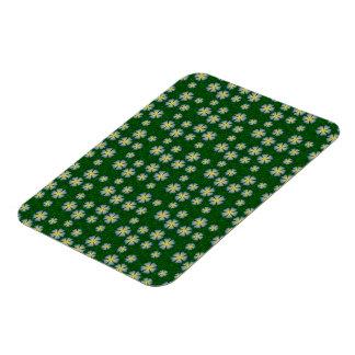 Garden flowers pattern rectangular magnets