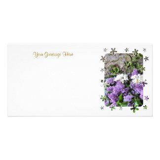 GARDEN FLOWERS PHOTO CARD