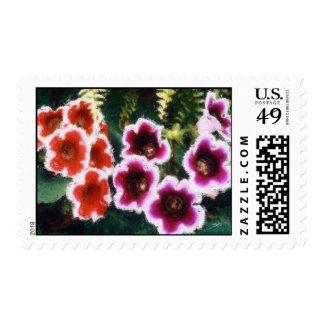 Garden Flowers Postage Stamps