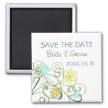 Garden Flowers Save the Date Magnet