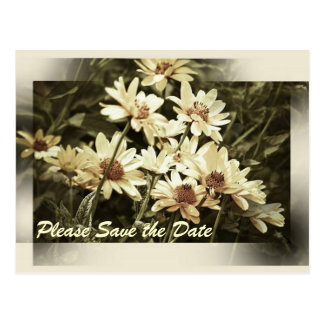 Garden Flowers Save the Date Postcard