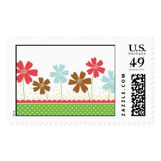 Garden Flowers Stamp