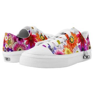 Garden Flowers Zipz Women's Sneakers/Shoes USA Low-Top Sneakers