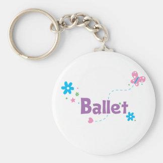 Garden Flutter Ballet Basic Round Button Keychain