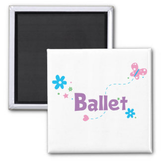 Garden Flutter Ballet 2 Inch Square Magnet
