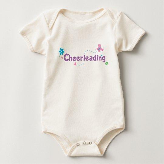 Garden Flutter Cheerleading Baby Bodysuit