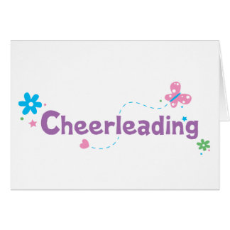 Garden Flutter Cheerleading Card
